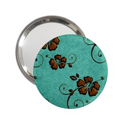 Chocolate Background Floral Pattern 2 25  Handbag Mirrors