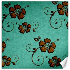 Chocolate Background Floral Pattern Canvas 12  X 12   by Nexatart