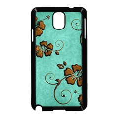 Chocolate Background Floral Pattern Samsung Galaxy Note 3 Neo Hardshell Case (black) by Nexatart