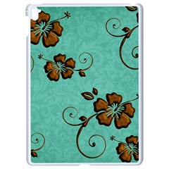 Chocolate Background Floral Pattern Apple Ipad Pro 9 7   White Seamless Case by Nexatart
