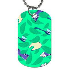 Pattern Seamless Background Desktop Dog Tag (one Side) by Nexatart