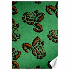 Chocolate Background Floral Pattern Canvas 20  X 30
