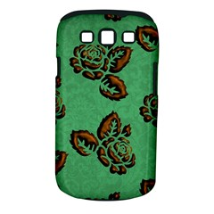 Chocolate Background Floral Pattern Samsung Galaxy S Iii Classic Hardshell Case (pc+silicone)
