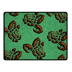 Chocolate Background Floral Pattern Double Sided Fleece Blanket (small)