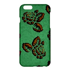 Chocolate Background Floral Pattern Apple Iphone 6 Plus/6s Plus Hardshell Case by Nexatart