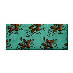 Chocolate Background Floral Pattern Cosmetic Storage Cases by Nexatart