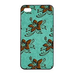 Chocolate Background Floral Pattern Apple Iphone 4/4s Seamless Case (black) by Nexatart