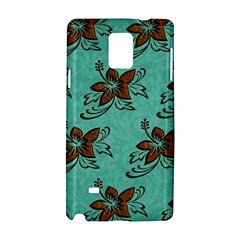 Chocolate Background Floral Pattern Samsung Galaxy Note 4 Hardshell Case by Nexatart