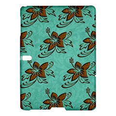 Chocolate Background Floral Pattern Samsung Galaxy Tab S (10 5 ) Hardshell Case  by Nexatart