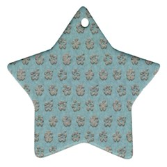 Texture Background Beige Grey Blue Star Ornament (two Sides) by Nexatart