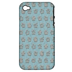 Texture Background Beige Grey Blue Apple Iphone 4/4s Hardshell Case (pc+silicone)