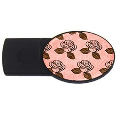 Chocolate Background Floral Pattern Usb Flash Drive Oval (2 Gb) by Nexatart