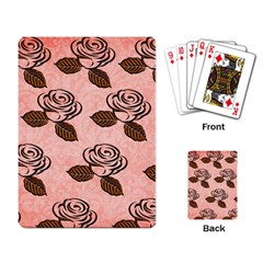 Chocolate Background Floral Pattern Playing Card