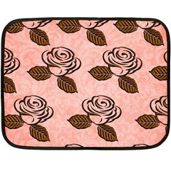 Chocolate Background Floral Pattern Double Sided Fleece Blanket (mini)  by Nexatart
