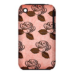 Chocolate Background Floral Pattern Iphone 3s/3gs by Nexatart