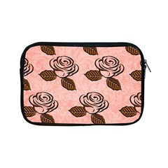 Chocolate Background Floral Pattern Apple Ipad Mini Zipper Cases