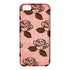 Chocolate Background Floral Pattern Apple Iphone 5c Hardshell Case by Nexatart