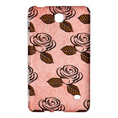 Chocolate Background Floral Pattern Samsung Galaxy Tab 4 (7 ) Hardshell Case  by Nexatart