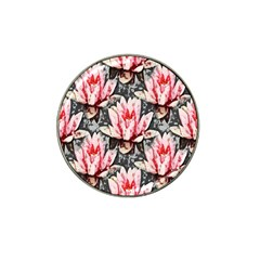 Water Lily Background Pattern Hat Clip Ball Marker (10 Pack) by Nexatart