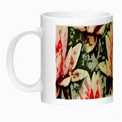 Water Lily Background Pattern Night Luminous Mugs by Nexatart