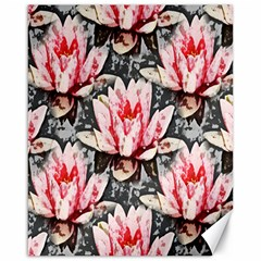 Water Lily Background Pattern Canvas 16  X 20