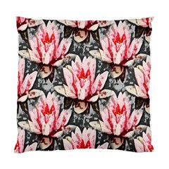 Water Lily Background Pattern Standard Cushion Case (two Sides)