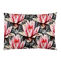 Water Lily Background Pattern Pillow Case (two Sides) by Nexatart