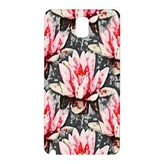 Water Lily Background Pattern Samsung Galaxy Note 3 N9005 Hardshell Back Case by Nexatart