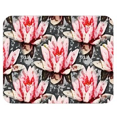 Water Lily Background Pattern Double Sided Flano Blanket (medium)  by Nexatart