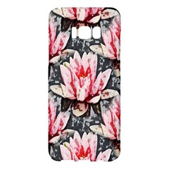 Water Lily Background Pattern Samsung Galaxy S8 Plus Hardshell Case  by Nexatart