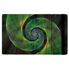 Green Spiral Fractal Wired Apple Ipad 3/4 Flip Case