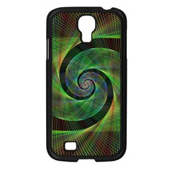 Green Spiral Fractal Wired Samsung Galaxy S4 I9500/ I9505 Case (black)