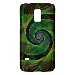 Green Spiral Fractal Wired Galaxy S5 Mini by Nexatart