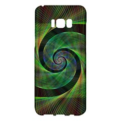 Green Spiral Fractal Wired Samsung Galaxy S8 Plus Hardshell Case  by Nexatart