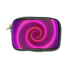 Pink Background Neon Neon Light Coin Purse