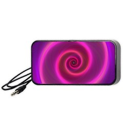 Pink Background Neon Neon Light Portable Speaker (black) by Nexatart