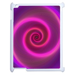 Pink Background Neon Neon Light Apple Ipad 2 Case (white) by Nexatart
