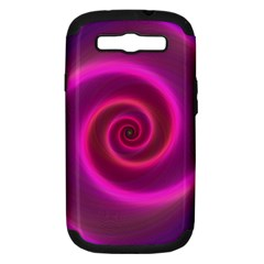 Pink Background Neon Neon Light Samsung Galaxy S Iii Hardshell Case (pc+silicone)