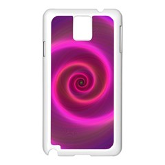 Pink Background Neon Neon Light Samsung Galaxy Note 3 N9005 Case (white) by Nexatart