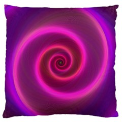 Pink Background Neon Neon Light Standard Flano Cushion Case (two Sides)