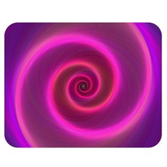 Pink Background Neon Neon Light Double Sided Flano Blanket (medium)  by Nexatart