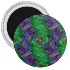 Fractal Spiral Swirl Pattern 3  Magnets by Nexatart