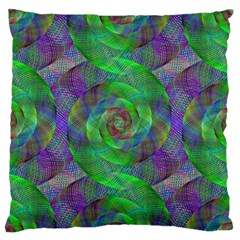 Fractal Spiral Swirl Pattern Standard Flano Cushion Case (one Side)