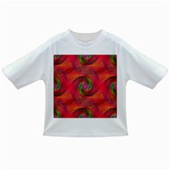 Red Spiral Swirl Pattern Seamless Infant/toddler T Shirts