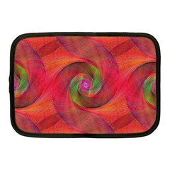 Red Spiral Swirl Pattern Seamless Netbook Case (medium)  by Nexatart