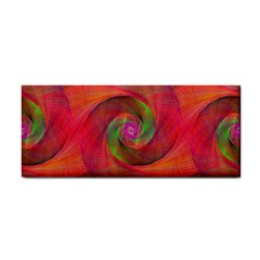 Red Spiral Swirl Pattern Seamless Cosmetic Storage Cases by Nexatart