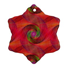 Red Spiral Swirl Pattern Seamless Snowflake Ornament (two Sides)