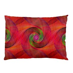 Red Spiral Swirl Pattern Seamless Pillow Case (two Sides) by Nexatart