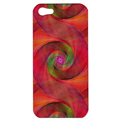Red Spiral Swirl Pattern Seamless Apple Iphone 5 Hardshell Case by Nexatart