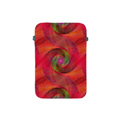 Red Spiral Swirl Pattern Seamless Apple Ipad Mini Protective Soft Cases by Nexatart